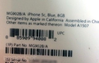 iphone 5c 8gb packaging