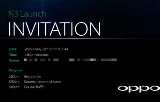oppo n3 launch date